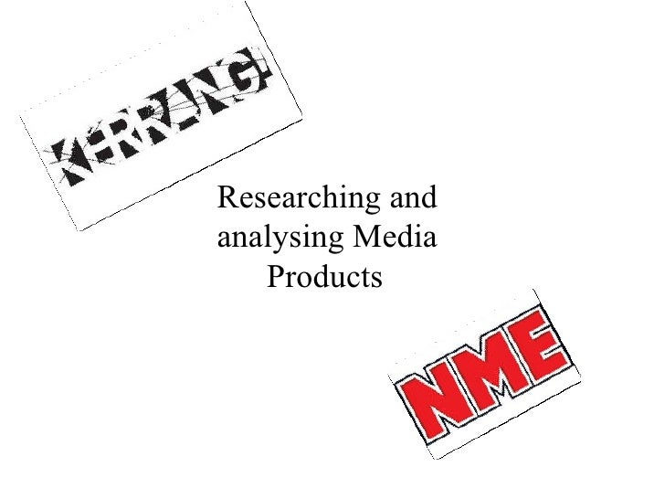 Researching and analysing Media Products