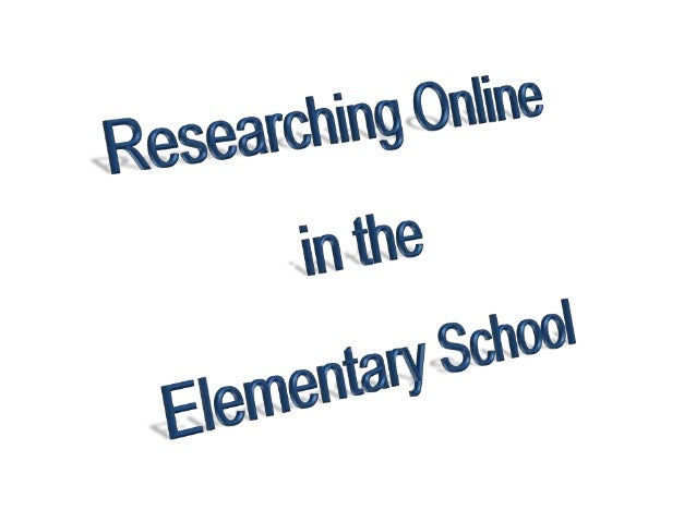 Researching Online (made easy)