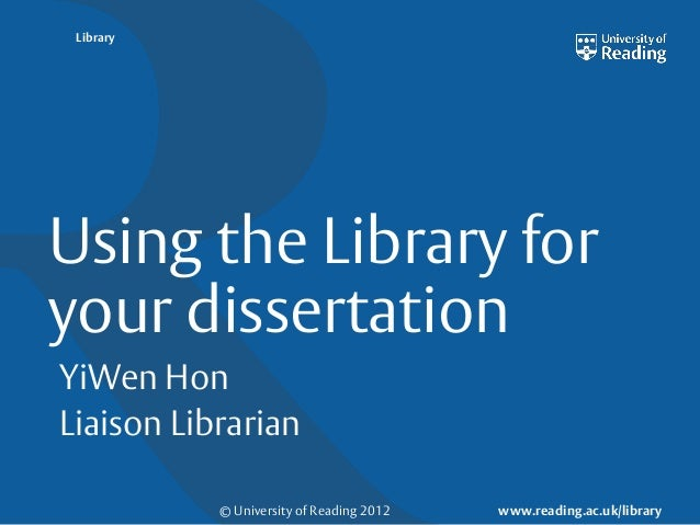 dissertation reading Expert dissertation writers are ready to start working on your order whenever you need - they are available 24/7 our dissertation service is completely reliable and safe.