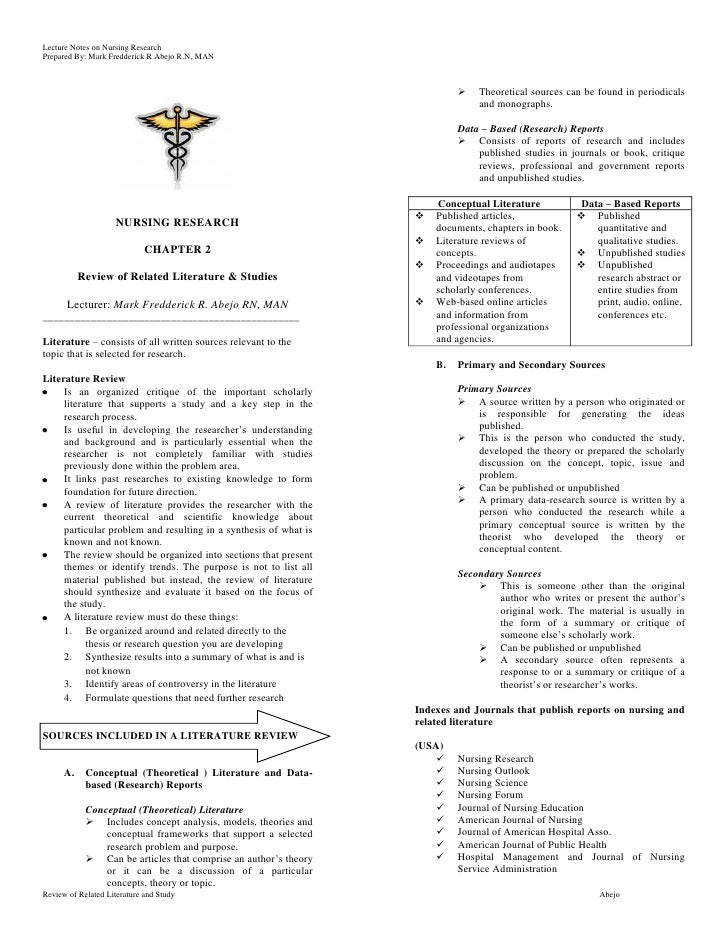Lecture Notes on Nursing ResearchPrepared By: Mark Fredderick R Abejo R.N, MAN                                            ...