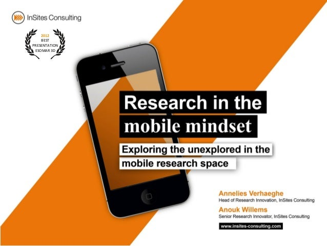 Research in the mobile mindset