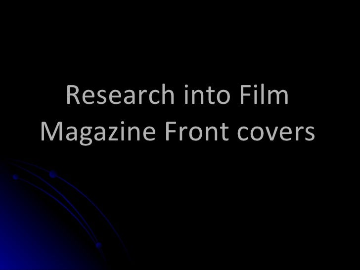 Research Into Magazines Front Covers