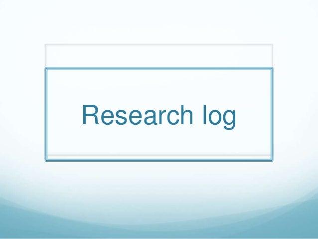 Research log