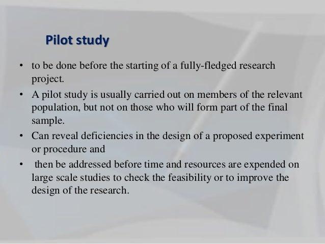Pilot study conversion strategy