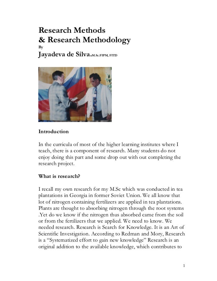 Research methods and methodology  -article