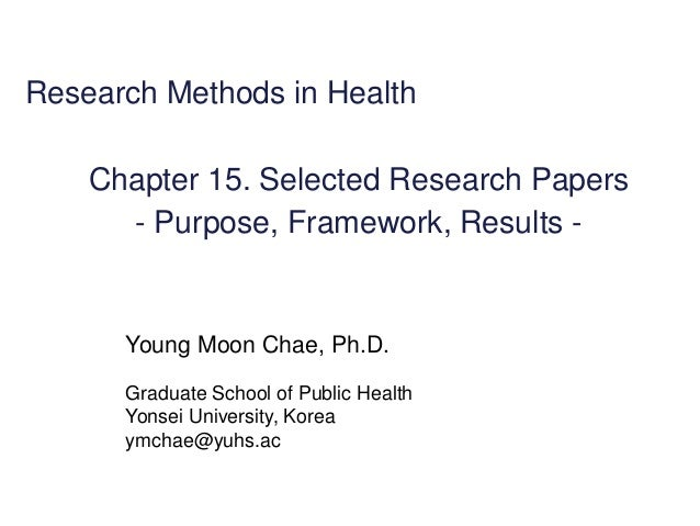 """selected research papers So much of your work is """"finding the frontier"""" go to weekly departmental seminars in your field this may be a direct source of ideas for research after all, the speakers are selected for being leaders in the field and they are presenting their research that is usually at the working paper stage in addition, it is important to watch."""