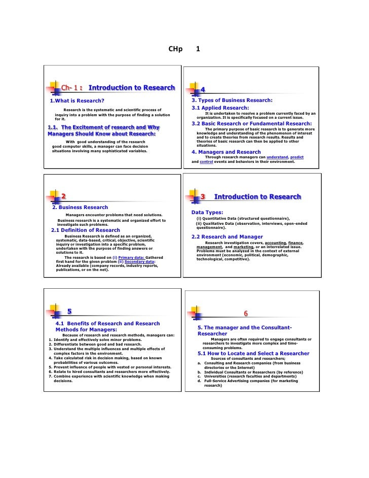 CHp     1        Ch- 1 : Introduction to Research                                      41.What is Research?               ...