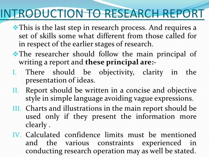 How to Write a Research Report and Give a Presentation A
