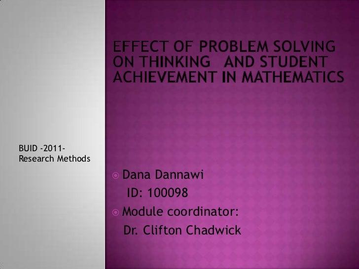 BUID -2011-Research Methods                    Dana  Dannawi                      ID: 100098                    Module c...