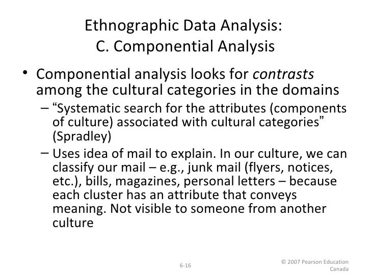 componential analysis A presentation on componential analysis sharing options share on facebook, opens a new window share on twitter, opens a new window.