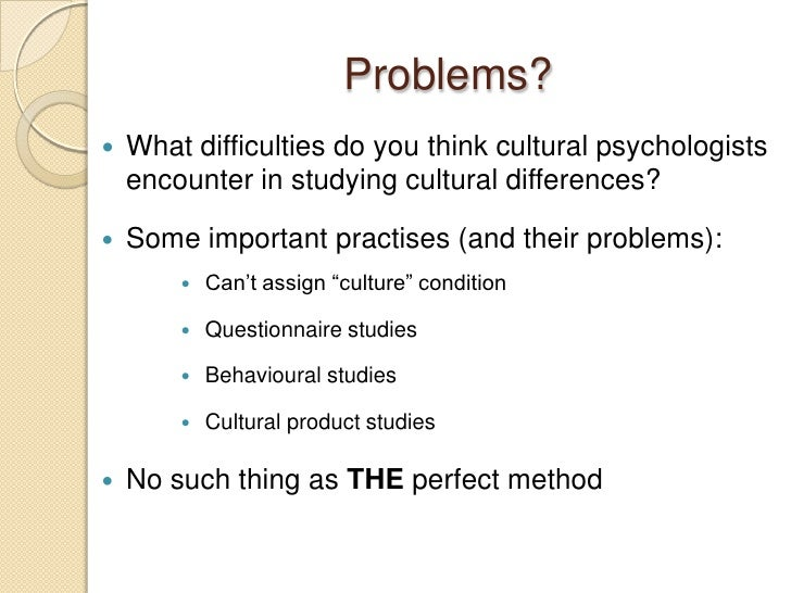 Research problems in psychology