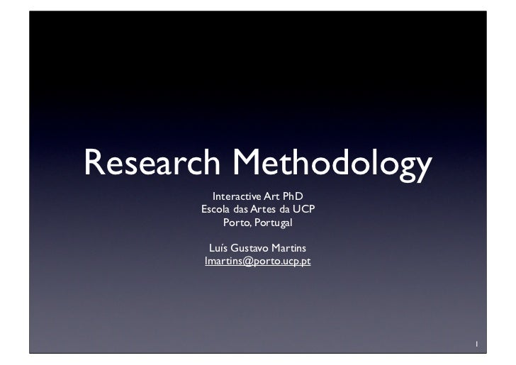 Define research methodologies
