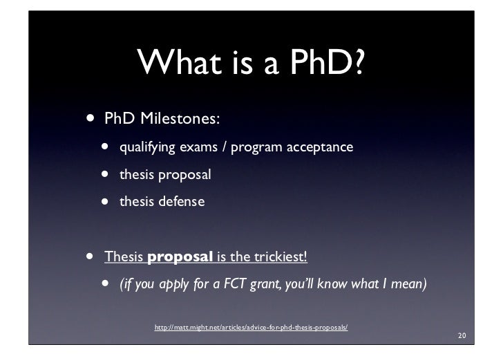 purpose of phd thesis