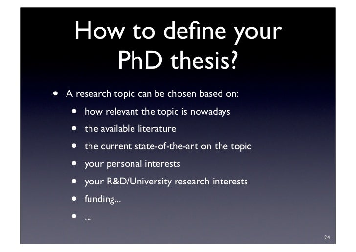 Phd by thesis only methodology structure