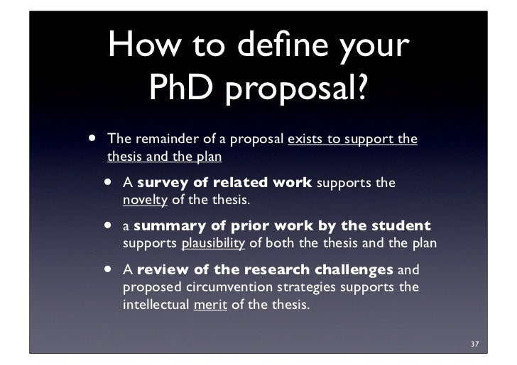 Planning your phd thesis