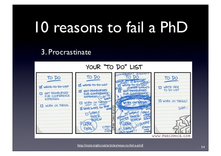 Failed phd thesis