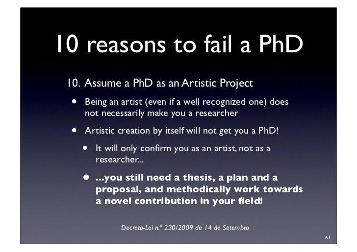 failing a phd thesis