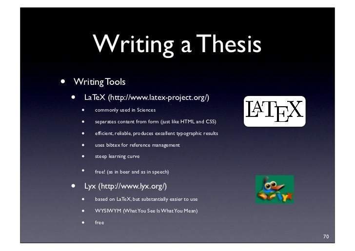 Dissertation Writing Tools