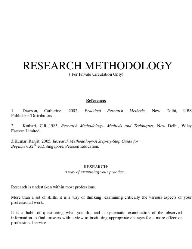 research methodology is