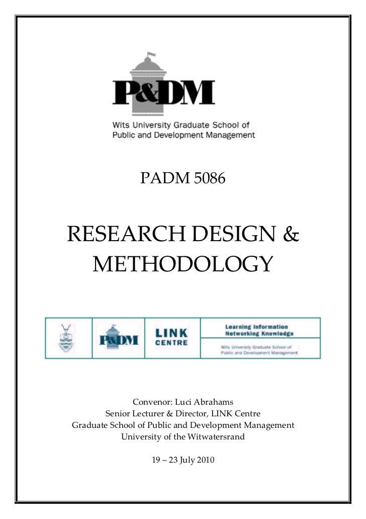 PADM5086        RESEARCHDESIGN&  METHODOLOGY                                ...