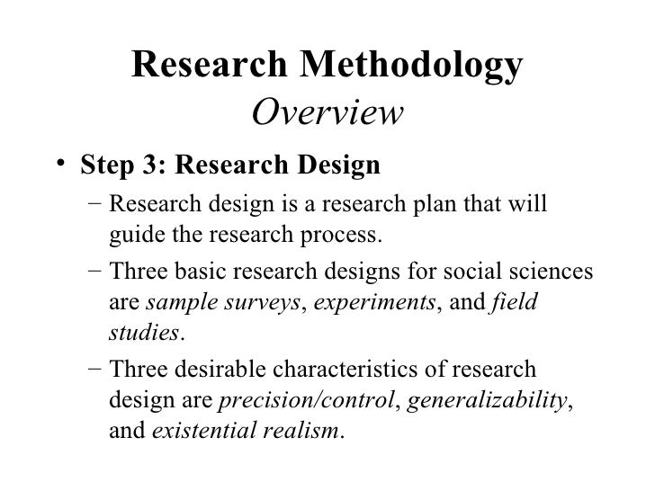 research methodology and steps in research