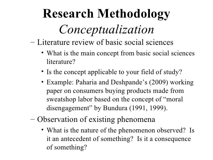 How to write the methodology section of a phd thesis