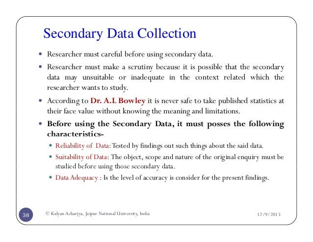 Dissertation methodology secondary data