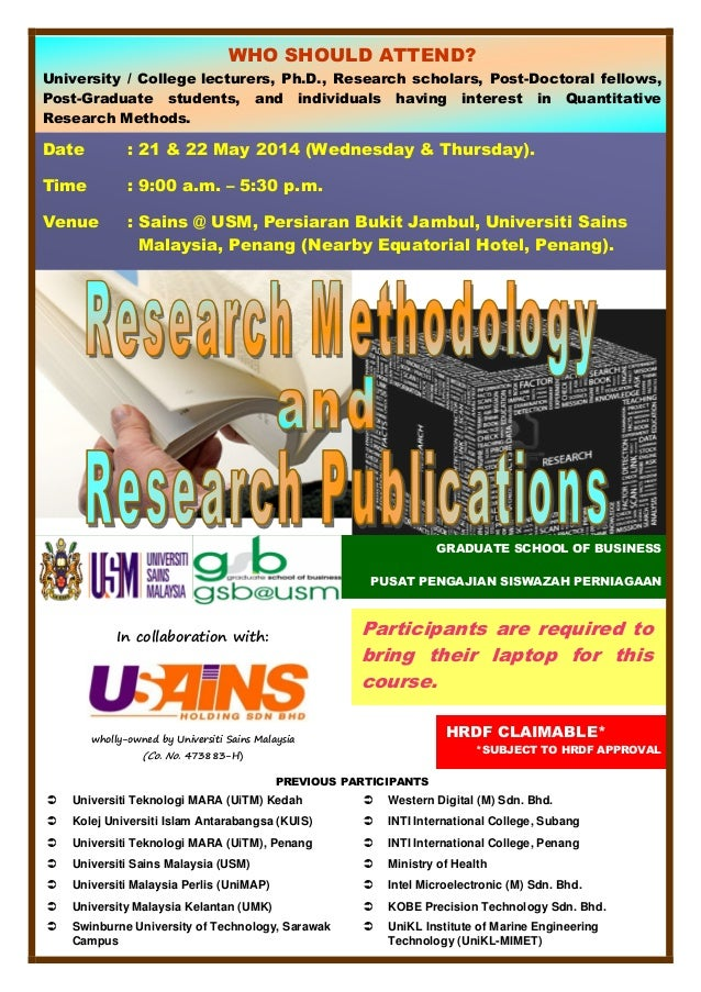 RESEARCH METHODOLOGY AND RESEARCH PUBLICATIONS MAY 2014