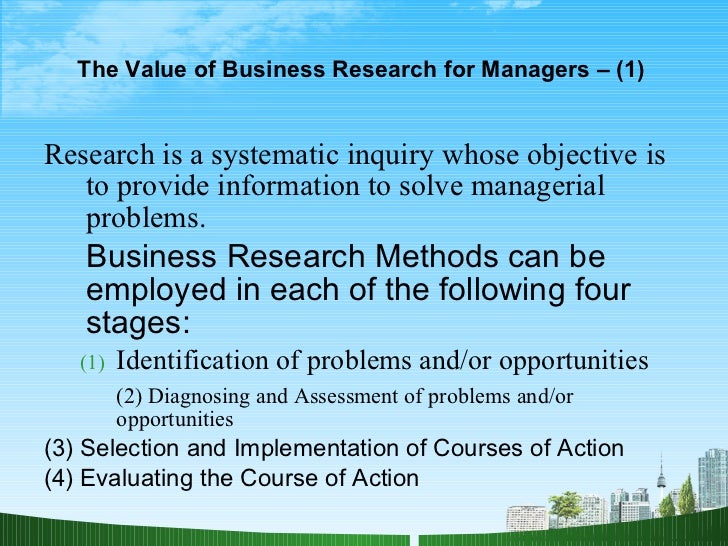 Business research applications paper