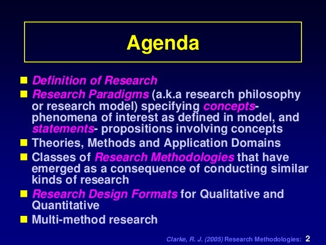 research methodology defined