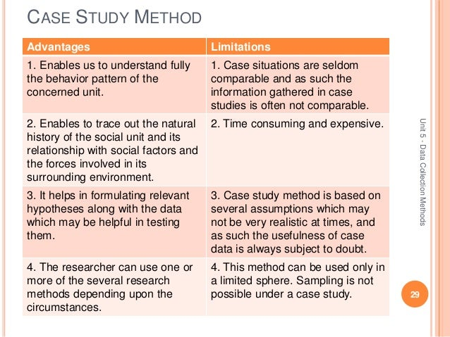 Advantages and disadvantages of case studies - SlideShare