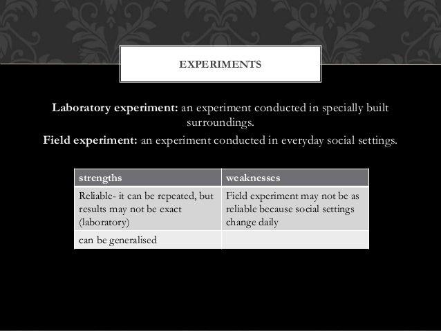 Sociology experiement--topic?