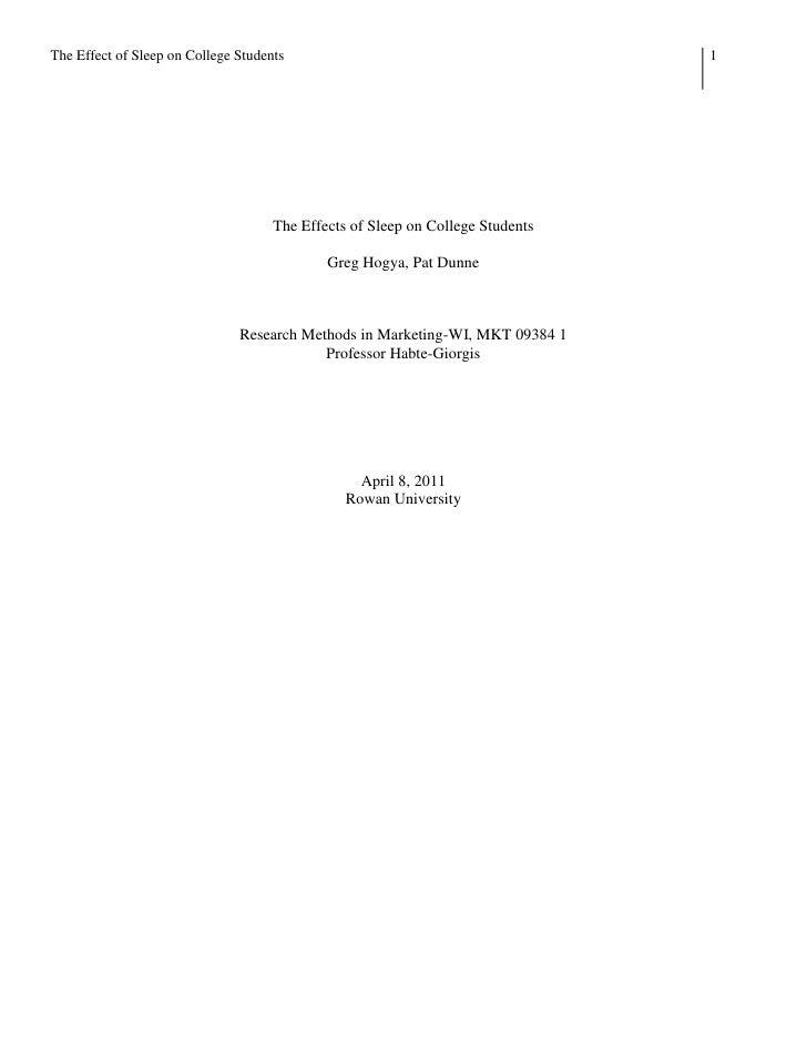 Research Methods Final Draft