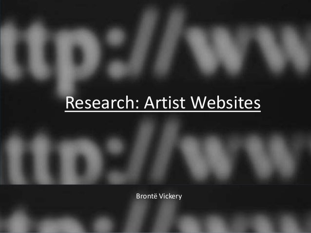 Research: Artist Websites         Brontë Vickery