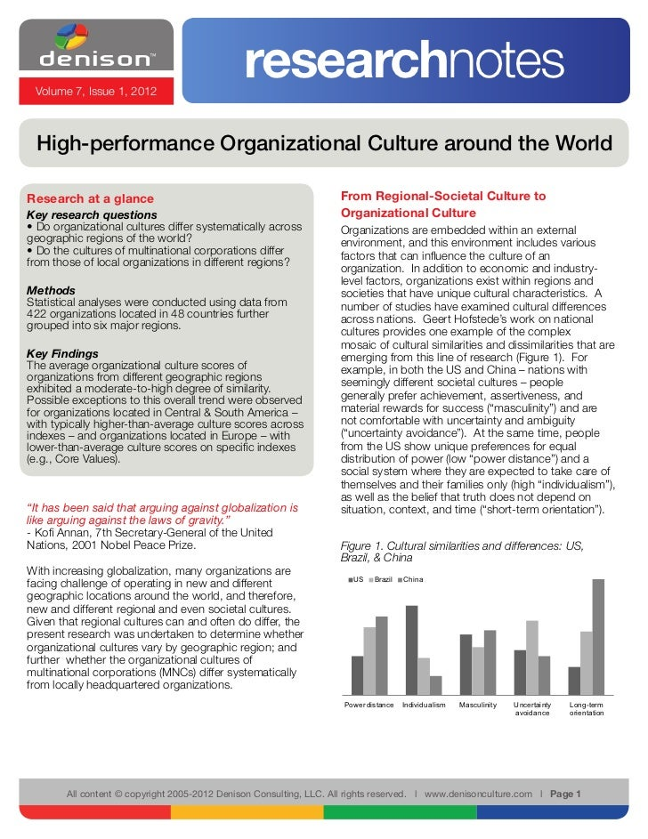 Volume 7, Issue 1, 2012                                              researchnotes High-performance Organizational Culture...
