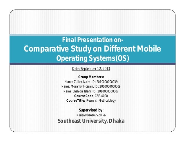Research on Comparative Study of Different Mobile Operating System_Part-2