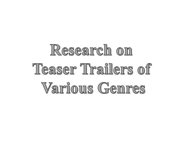 • Voiceover at the beginning • More shots when action is going on • Reviews • Dialogue in film shows storyline • Red backg...