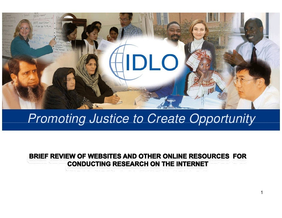 Research On The Internet @ Idlo