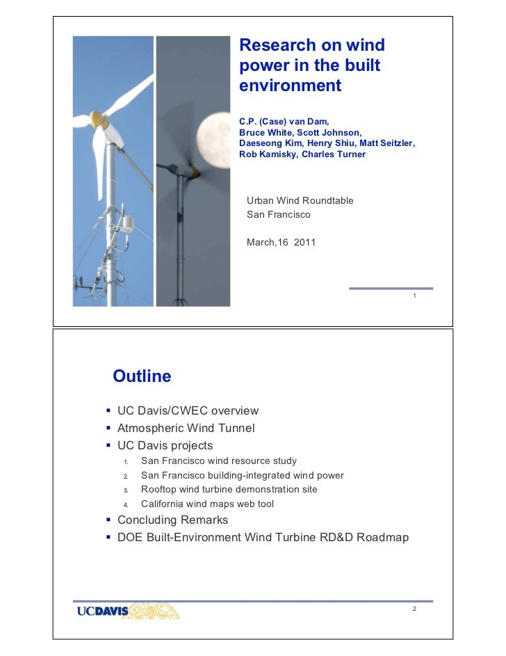 Research on Wind Power in the Built Environment by Case van Dam