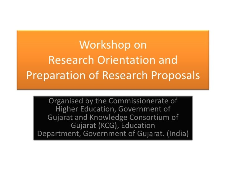 Workshop on Research Orientation and Preparation of Research Proposals<br />Organised by the Commissionerate of Higher Edu...