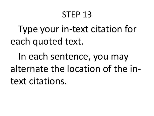 How do you write a parenthetical citation on a survey that you conducted? Is there such thing?