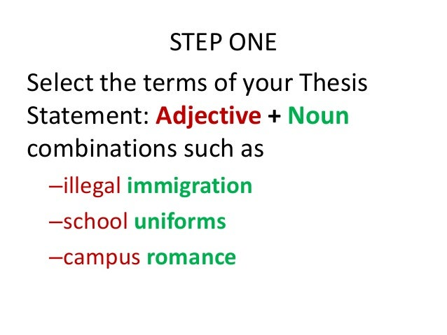 Definition of the terms in a research paper