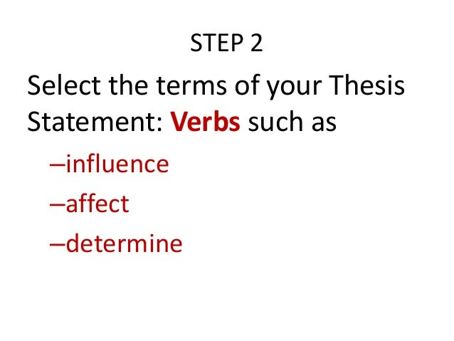 webster definition of thesis statement