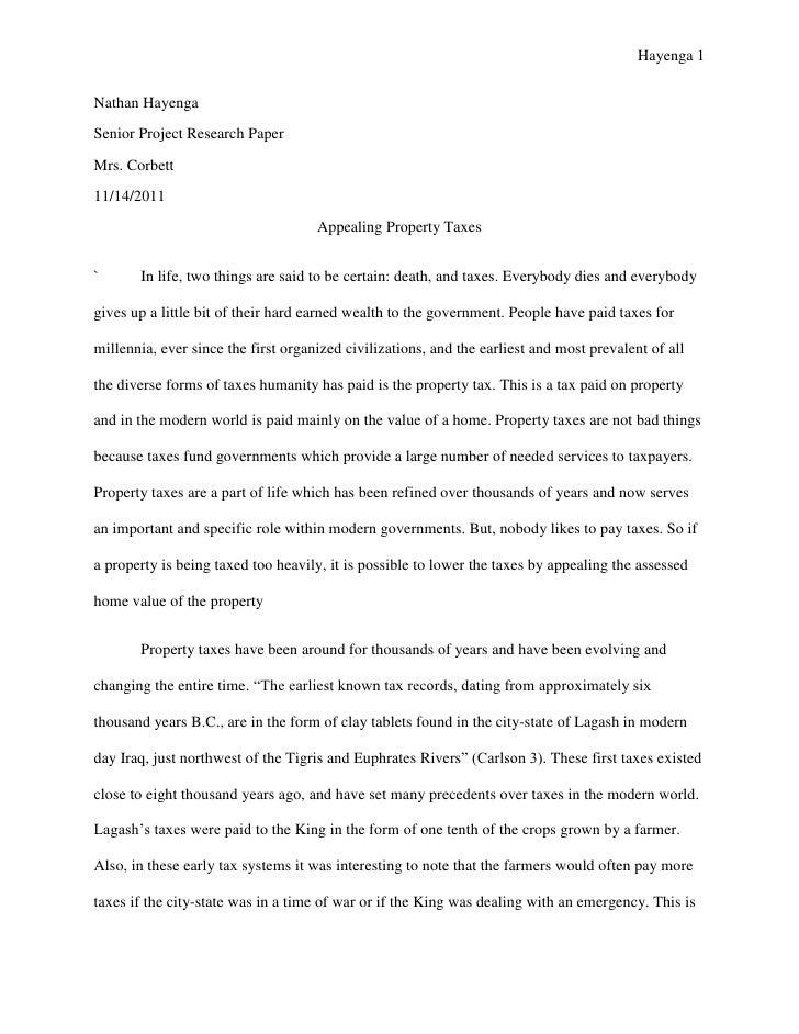 Hayenga 1Nathan HayengaSenior Project Research PaperMrs. Corbett11/14/2011                                     Appealing P...