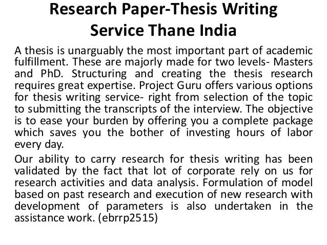 Research Paper Writing Services In India Us
