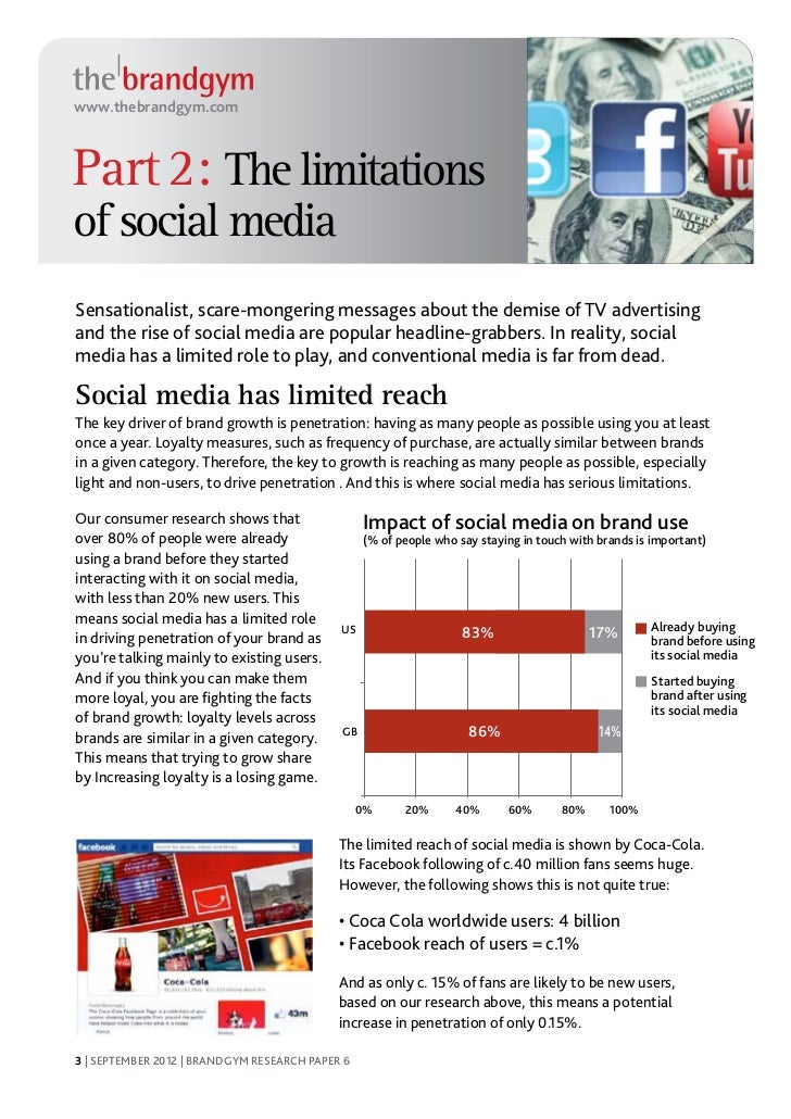 research paper on social media Social media marketing is about understanding how technology is making it easier for people to connect socially with their social networks and how.