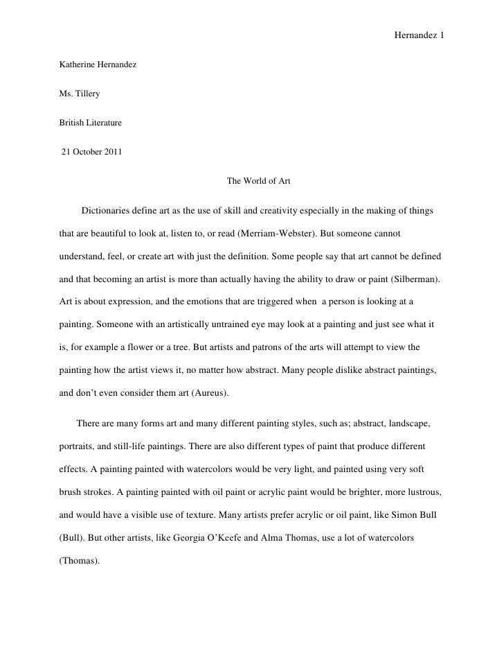 Art research paper