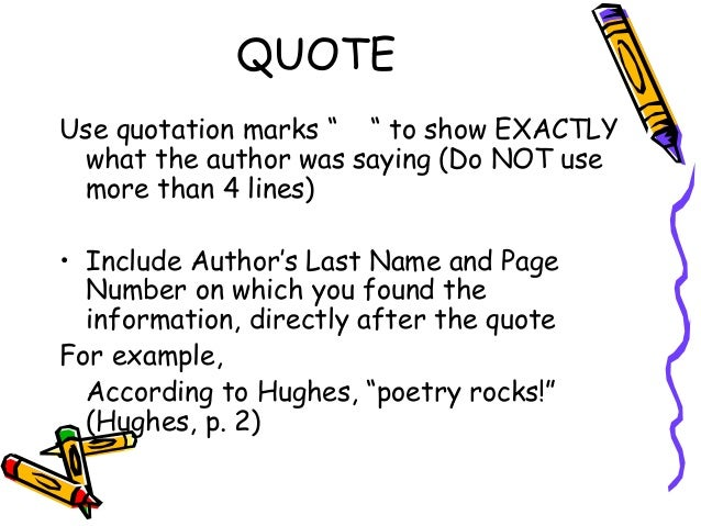 example of a quote in an essay