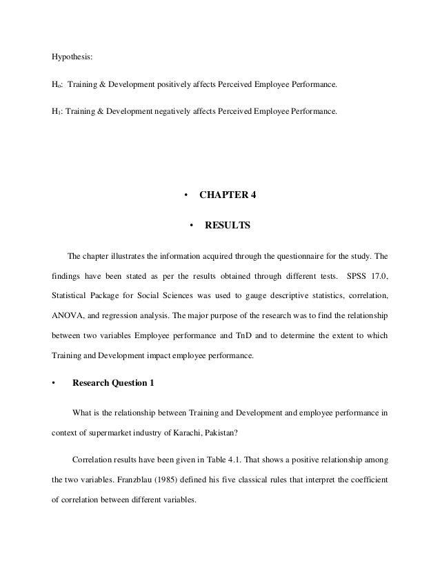 Dissertation proposal on training and development