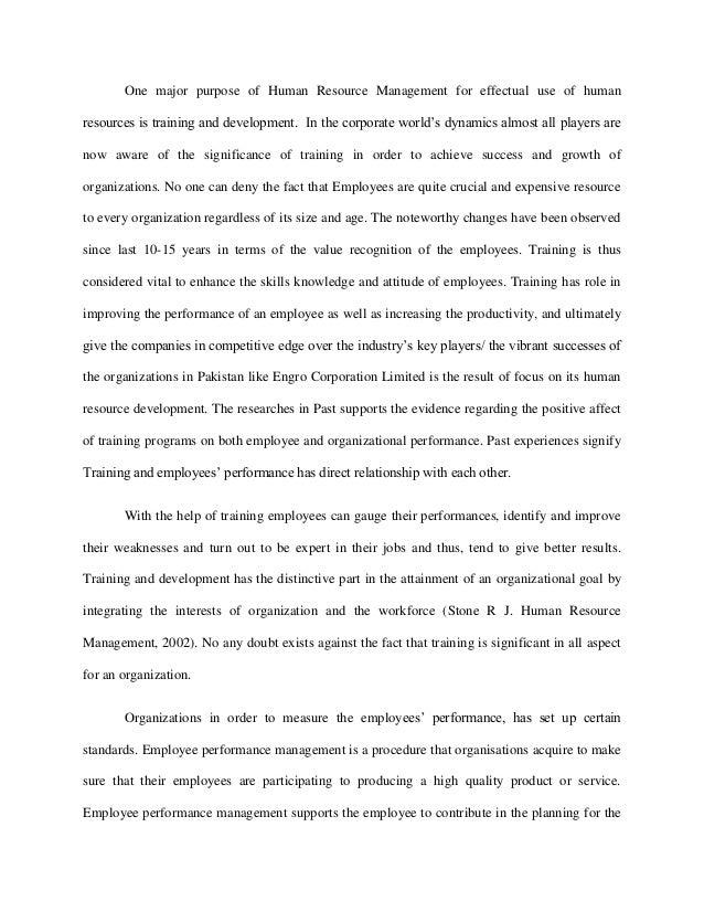 development paper term training